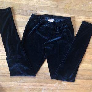Target Mossimo Black Velvet Leggings